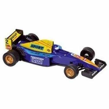 Schaalmodel formule 1 wagen blauw 10 cm prijs