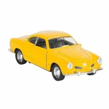 Schaalmodel karmann-ghia coupe geel 11,3 cm prijs