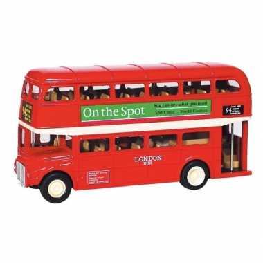 Schaalmodel london bus rood 12 cm prijs