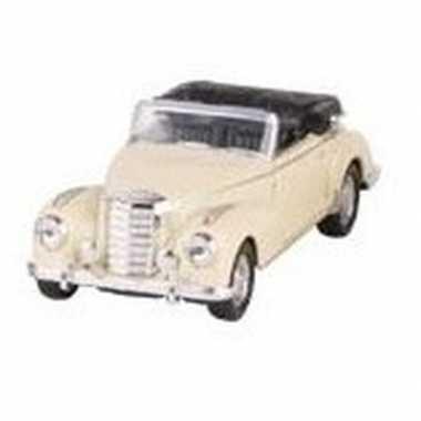 Schaalmodel mercedes-benz 300s cabrio creme 11,6 cm prijs