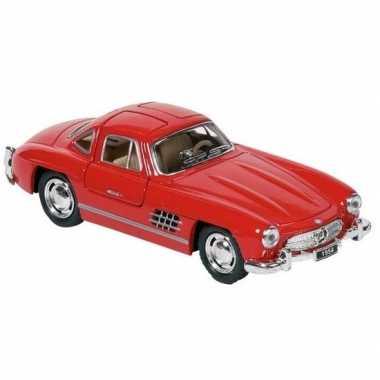 Schaalmodel mercedes-benz 300sl auto rood 12,8 cm prijs
