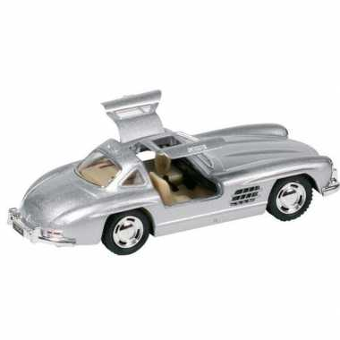 Schaalmodel mercedes-benz 300sl auto zilver 12,8 cm prijs