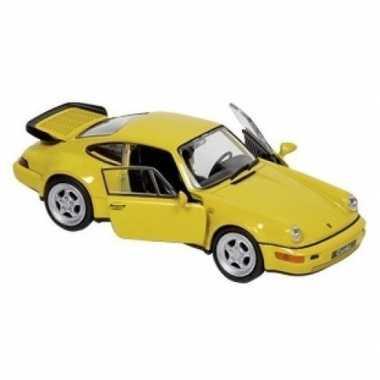 Schaalmodel porsche 964 carrera geel 1:34 prijs