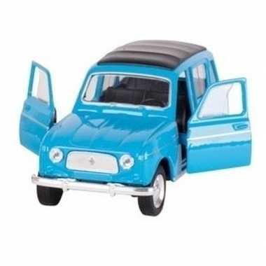 Schaalmodel renault 4 blauw 11,5 cm prijs