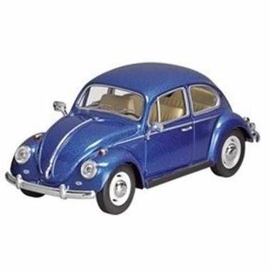 Schaalmodel volkswagen kever blauw 17 cm prijs