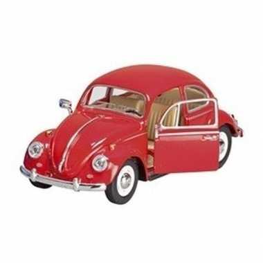 Schaalmodel volkswagen kever rood 17 cm prijs