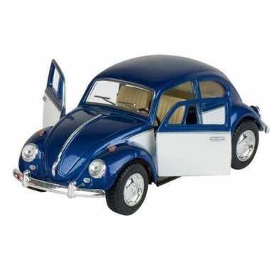 Schaalmodel volkswagen kever two-tone blauw/wit 13 cm prijs