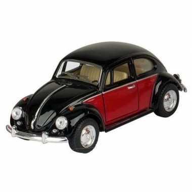 Schaalmodel volkswagen kever two-tone zwart/rood 13 cm prijs