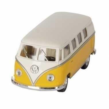 Schaalmodel volkswagen t1 two-tone geel/wit 13,5 cm prijs