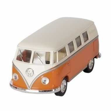 Schaalmodel volkswagen t1 two-tone oranje/wit 13,5 cm prijs