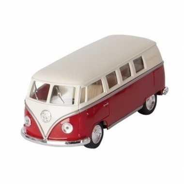 Schaalmodel volkswagen t1 two-tone rood/wit 13,5 cm prijs