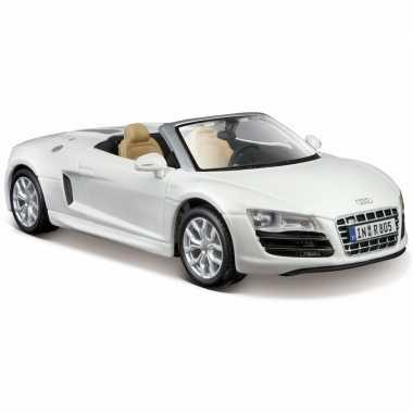 Schaalmodel witte audi r8 cabrio 1:24 prijs