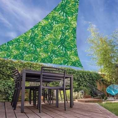 Schaduwdoek groen palmblad driehoekig 3,6 x 3,6 x 3,6 meter prijs