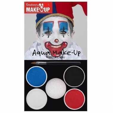 Schmink palet clown 5 kleuren prijs
