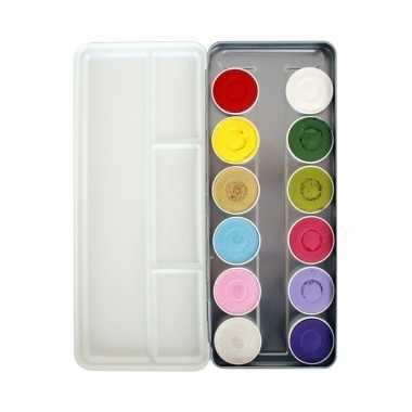 Schmink palet waterbasis 12 kleuren prijs