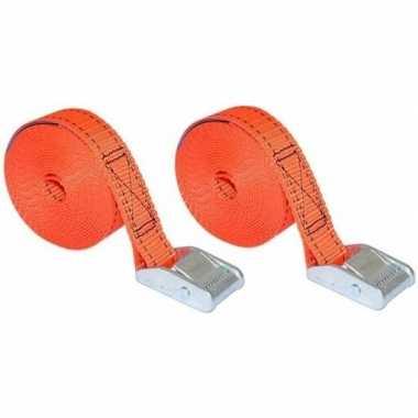 Set van 2 oranje spanbanden prijs