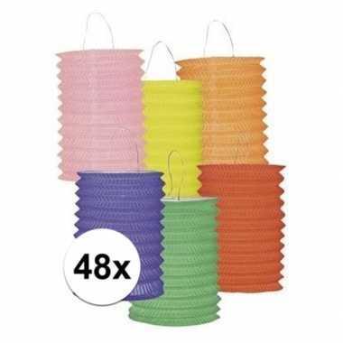 Set van 48 gekleurde lantaarns prijs