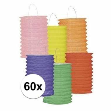 Set van 60 gekleurde lantaarns prijs