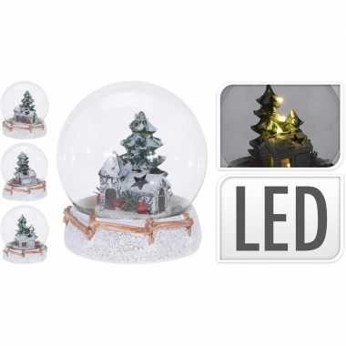 Sneeuwbol met kersthuisje inclusief led lampje prijs