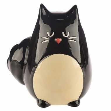 Spaarpot/beeldje zwarte kat gemaakt van keramiek 13 cm prijs