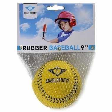 Speelgoed honkbal geel 7 cm prijs