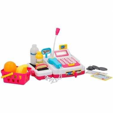 Speelgoed kassa met licht en geluid voor jongens/meisjes prijs