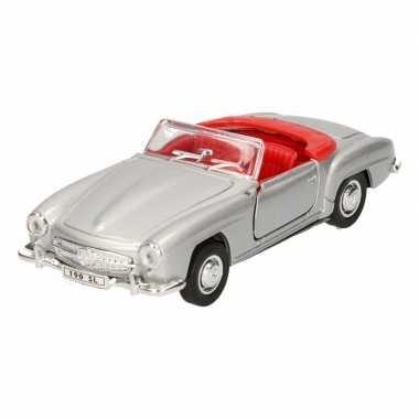 Speelgoed mercedes-benz 1955 190sl zilver welly autootje 12 cm prijs