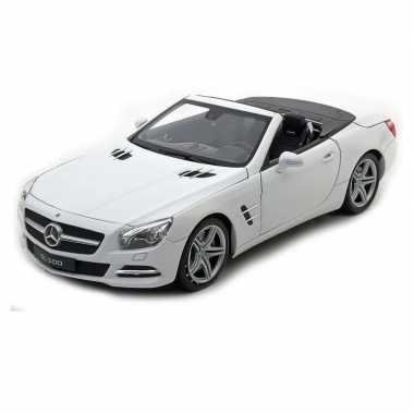 Speelgoed mercedes-benz 2012 sl500 wit welly autootje 12 cm prijs
