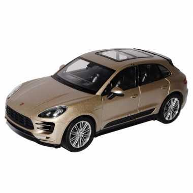 Speelgoed porsche macan turbo beige autootje 12 cm prijs