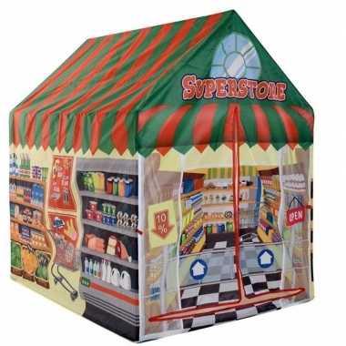 Speelgoed speeltent supermarkt winkel 102 cm prijs