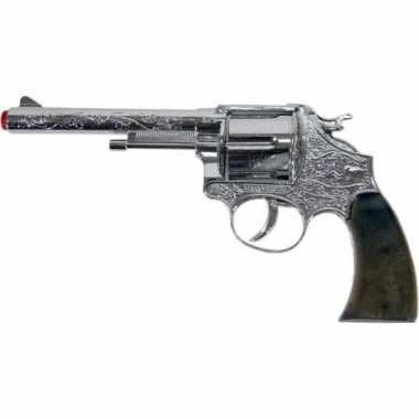 Speelgoed/verkleed plaf/klap geweer/pistool 12 schots 25 cm voor kind