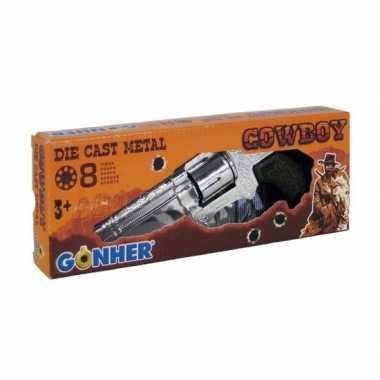 Speelgoed/verkleed plaf/klap geweer/pistool 8 schots 20 cm voor kinde