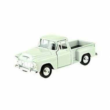 Speelgoedauto chevrolet 1955 stepside wit 1:34 prijs