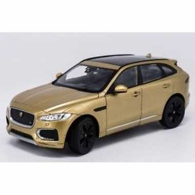Speelgoedauto jaguar f-pace goudkleurig 1:34 prijs