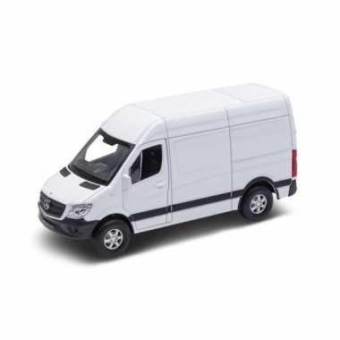 Speelgoedauto mercedes benz sprinter wit 1:36 prijs