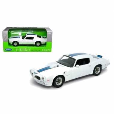 Speelgoedauto pontiac firebird trans am 1972 wit/blauw prijs