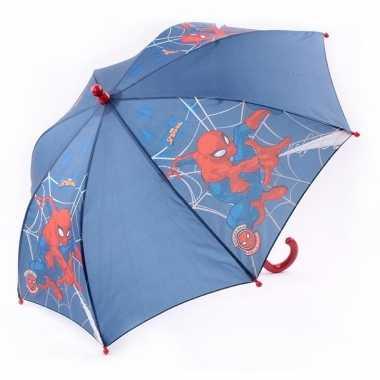 Spiderman kinderparaplu blauw 45 cm voor jongens prijs