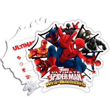 Vergelijk spiderman warriors uitnodigingen met enveloppe prijs