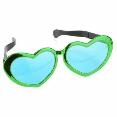 St patricks day groene hartvormige xl verkleed bril voor volwassenen