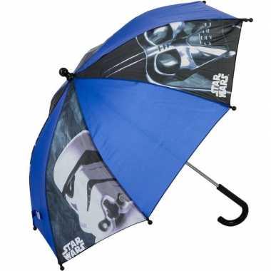 Star wars disney kinderparaplu blauw 45 cm voor kinderen prijs