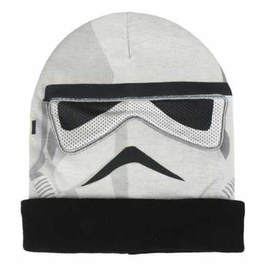 Star wars stormtrooper bivakmasker/muts voor jongens prijs