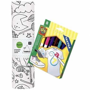 Stof om op te kleuren met textielstiften voor kinderen prijs