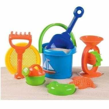 Strand/zandbak speelset emmer met vormpjes en schepjes prijs