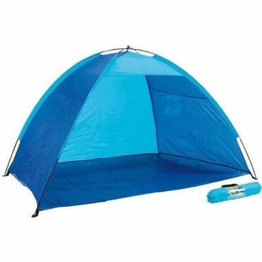 Strandtentje blauw met open voorkant prijs