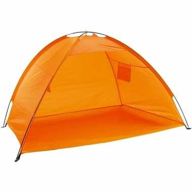 Strandtentje oranje met open voorkant prijs