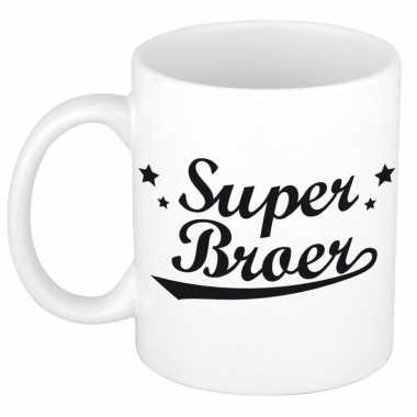 Super broer cadeau mok / beker voor 300 ml prijs