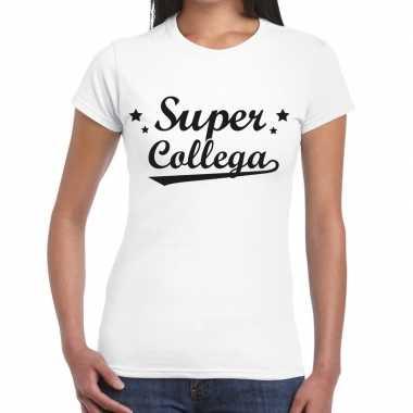 Super collega fun t-shirt wit voor dames prijs