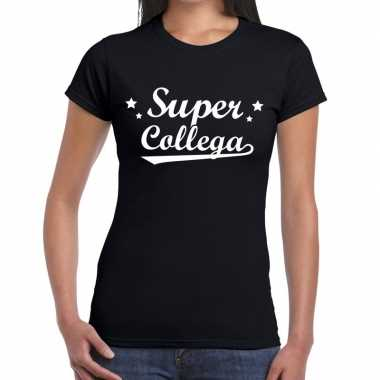 Super collega fun t-shirt zwart voor dames prijs