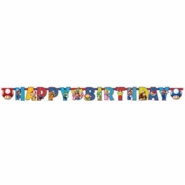 Vergelijk super mario verjaardag letterslinger prijs