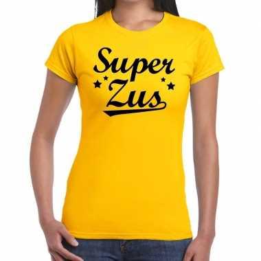 Super zus fun t-shirt geel voor dames prijs